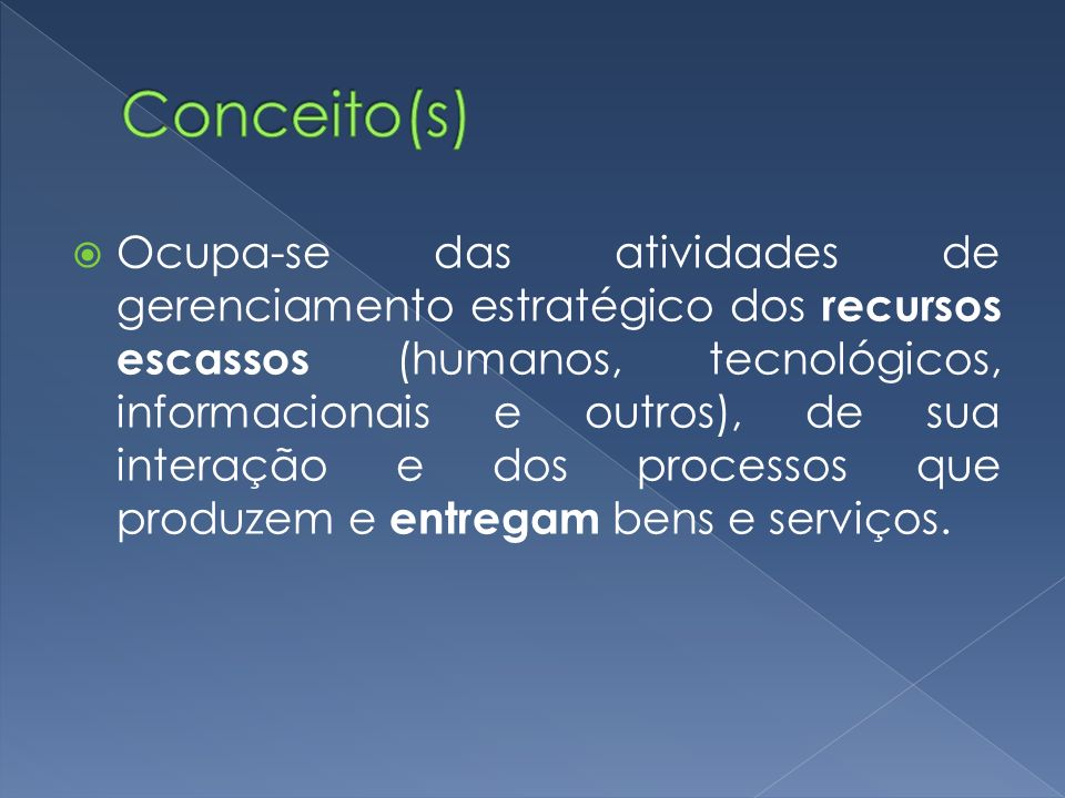 Conceito(s)