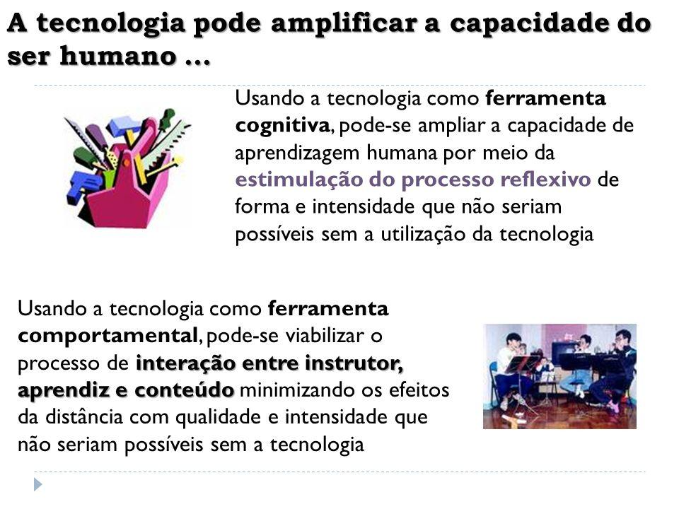 A tecnologia pode amplificar a capacidade do ser humano ...