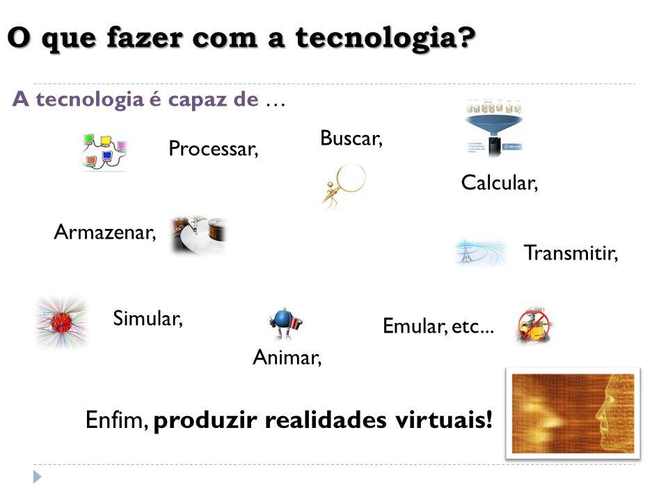 O que fazer com a tecnologia