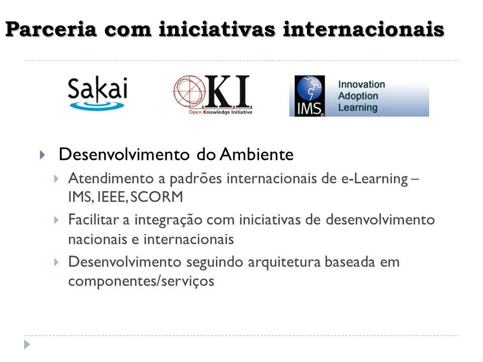 Parceria com iniciativas internacionais