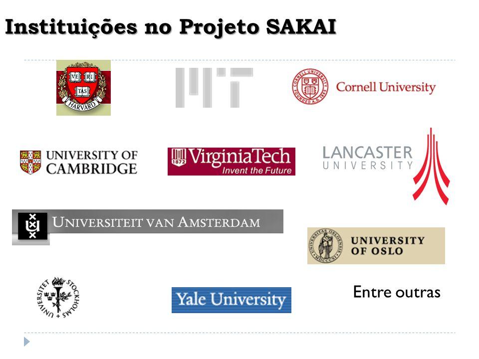 Instituições no Projeto SAKAI
