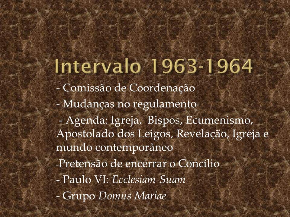 Intervalo 1963-1964 - Comissão de Coordenação