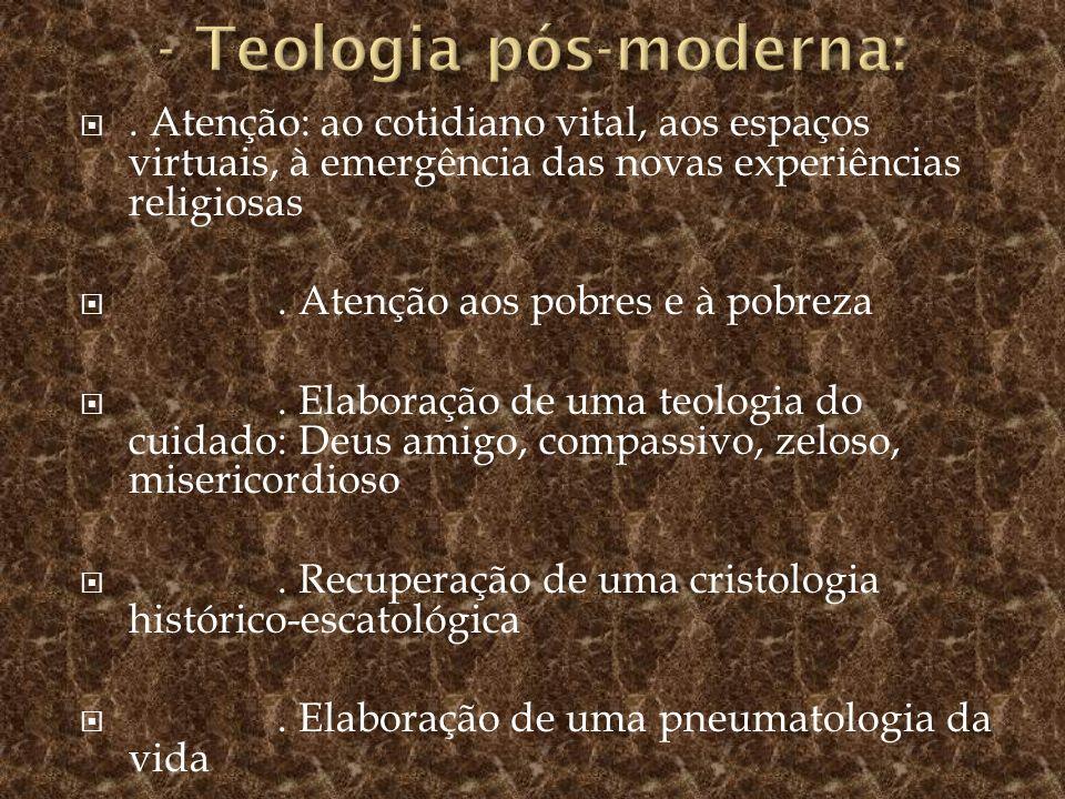 - Teologia pós-moderna: