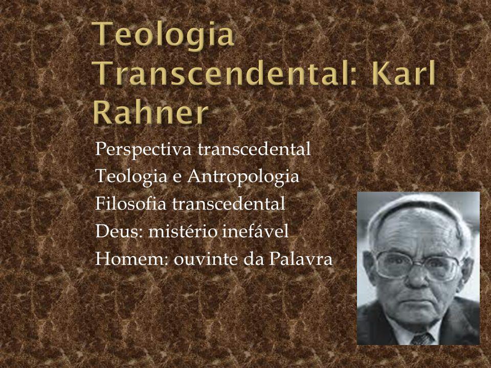 Teologia Transcendental: Karl Rahner