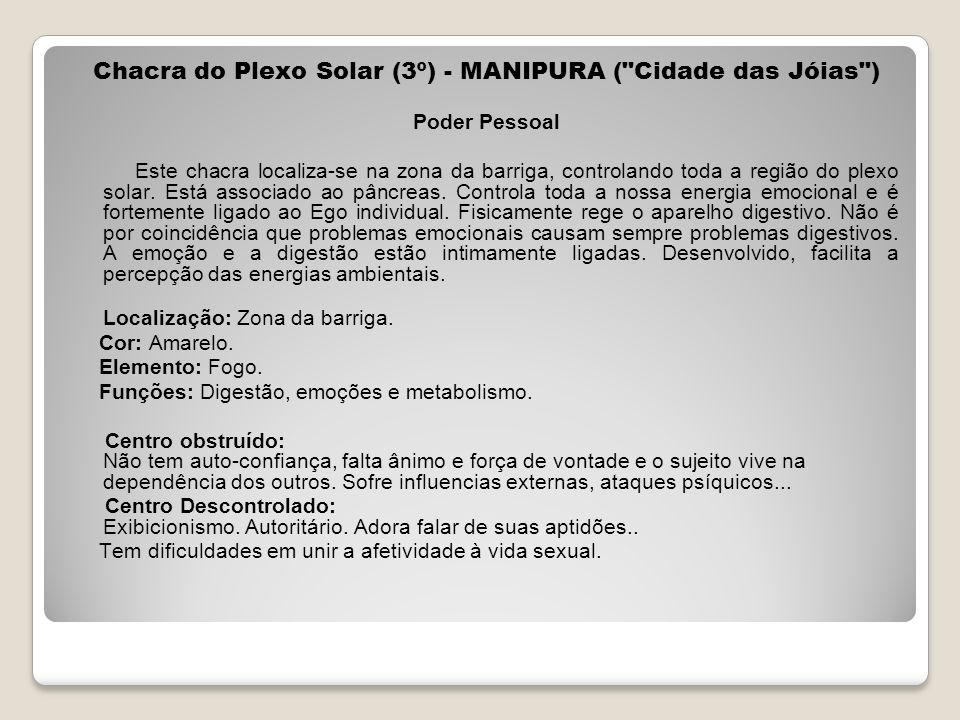 Chacra do Plexo Solar (3º) - MANIPURA ( Cidade das Jóias )