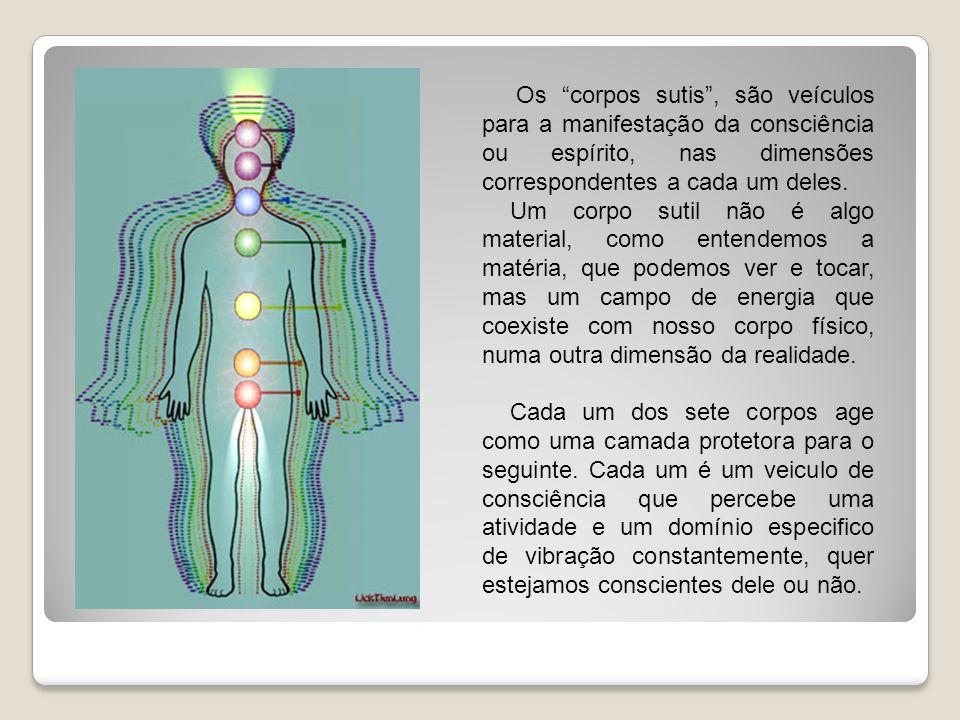 Os corpos sutis , são veículos para a manifestação da consciência ou espírito, nas dimensões correspondentes a cada um deles.