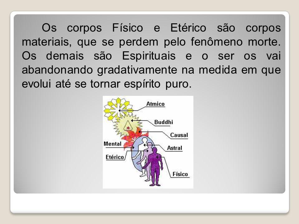 Os corpos Físico e Etérico são corpos materiais, que se perdem pelo fenômeno morte.