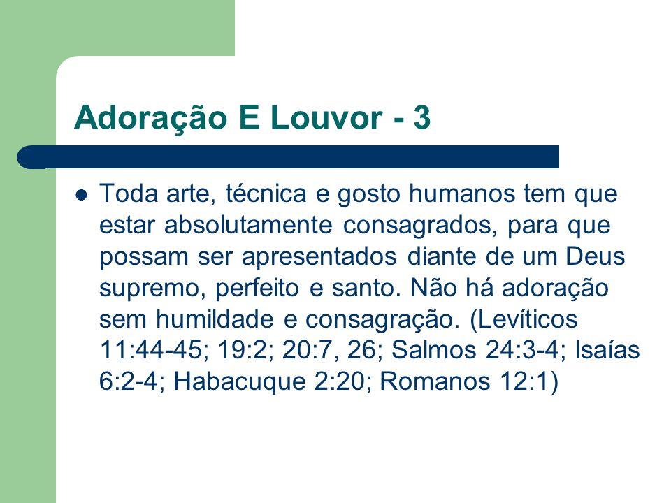 Adoração E Louvor - 3