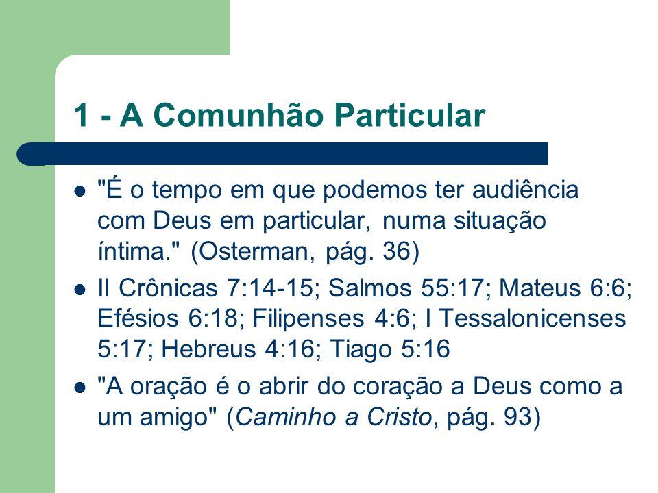 1 - A Comunhão Particular