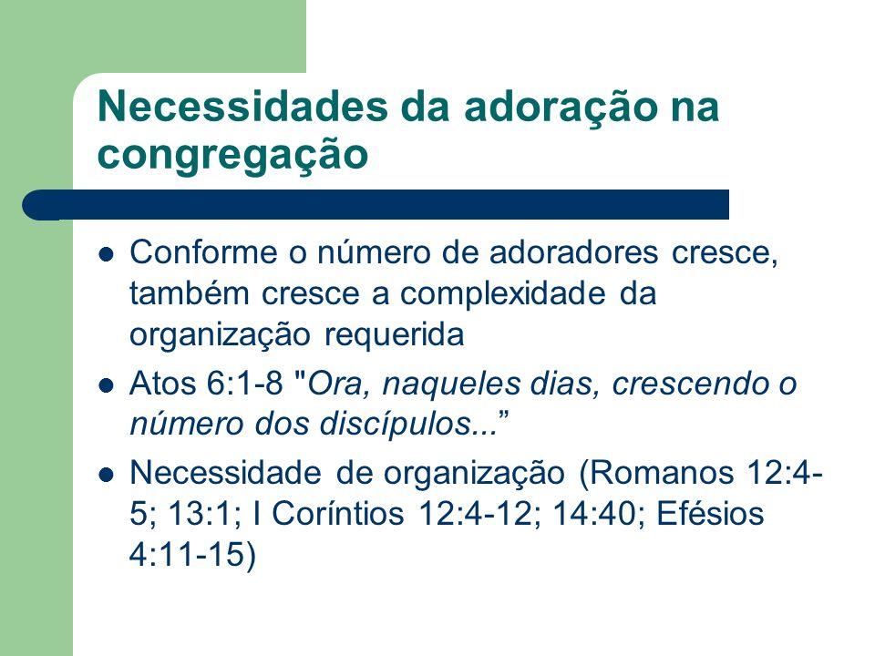 Necessidades da adoração na congregação