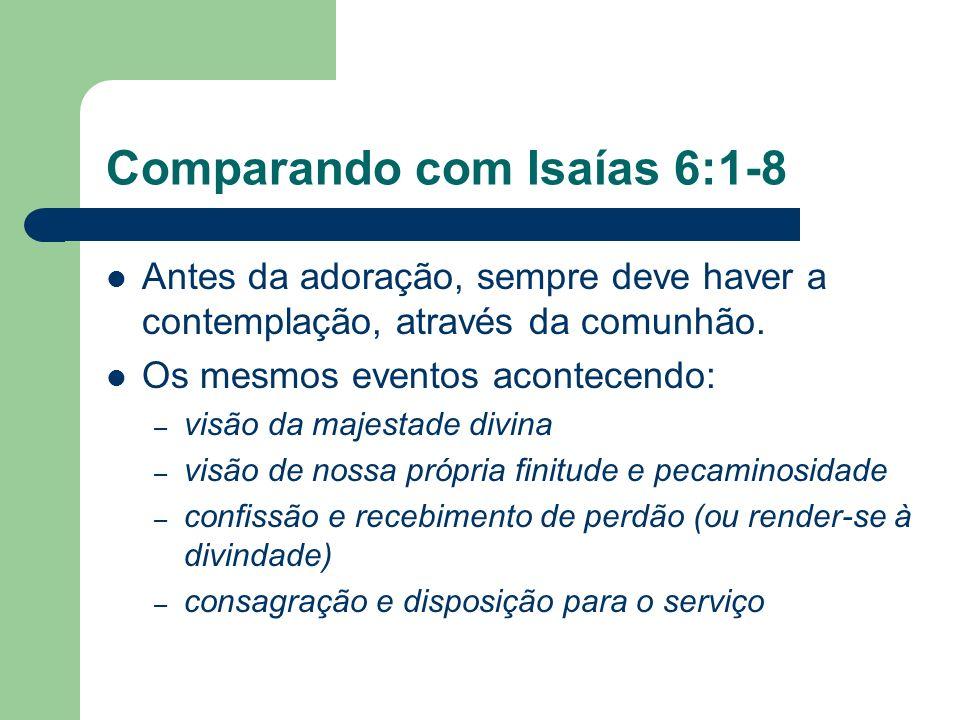 Comparando com Isaías 6:1-8