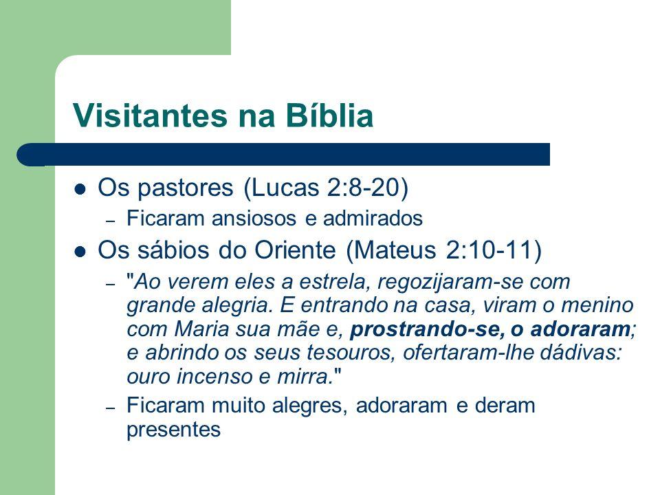 Visitantes na Bíblia Os pastores (Lucas 2:8-20)