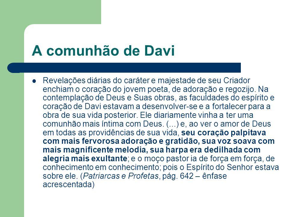 A comunhão de Davi