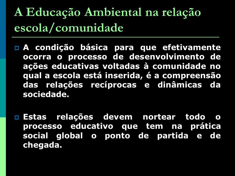 A Educação Ambiental na relação escola/comunidade