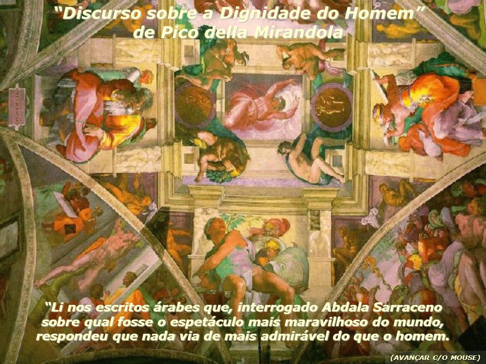 Discurso sobre a Dignidade do Homem de Pico della Mirandola