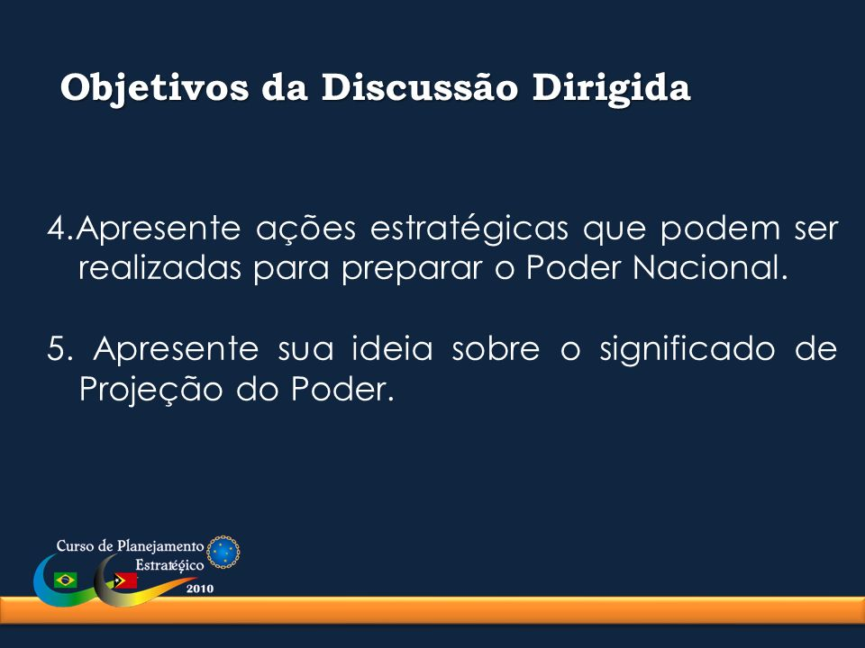 Objetivos da Discussão Dirigida
