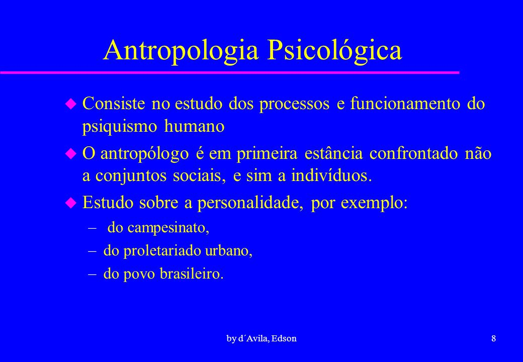Antropologia Psicológica