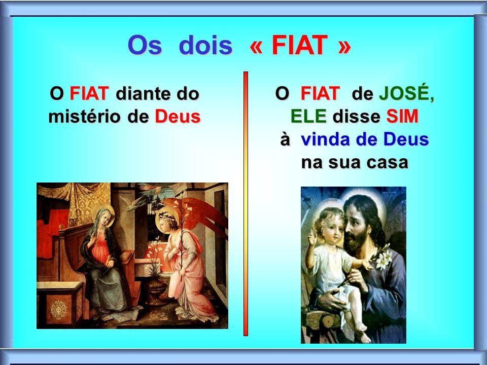 Os dois « FIAT » O FIAT diante do mistério de Deus