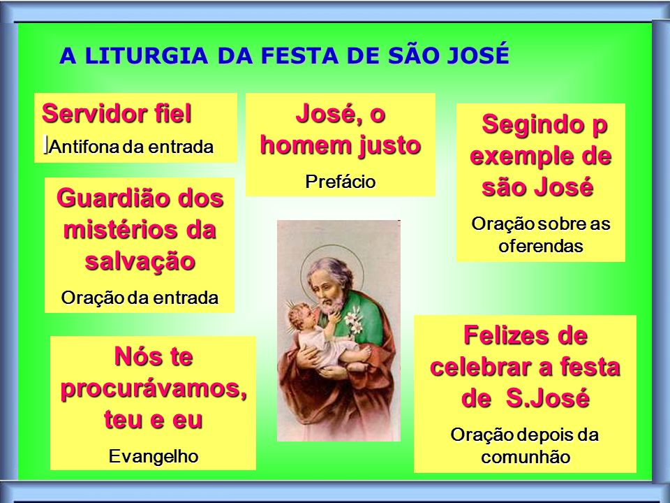 A LITURGIA DA FESTA DE SÃO JOSÉ