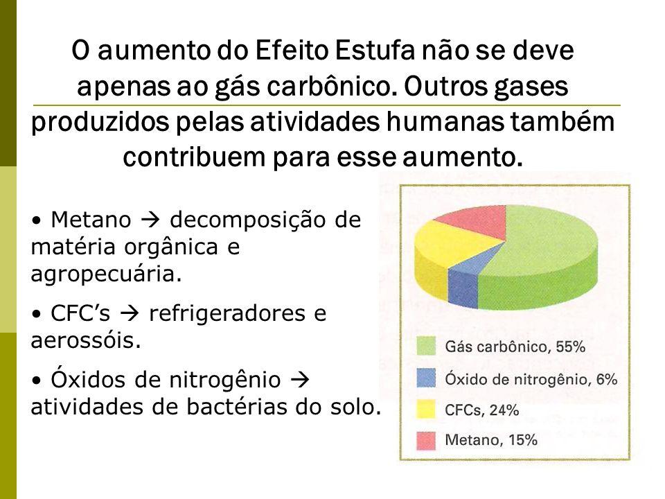 O aumento do Efeito Estufa não se deve apenas ao gás carbônico