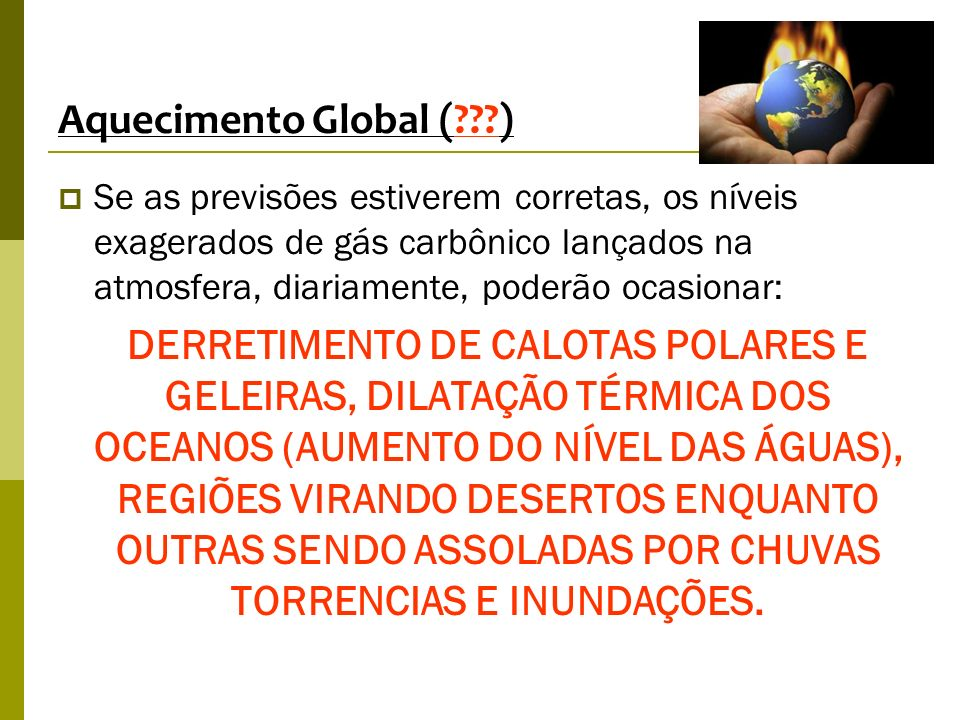 Aquecimento Global ( )
