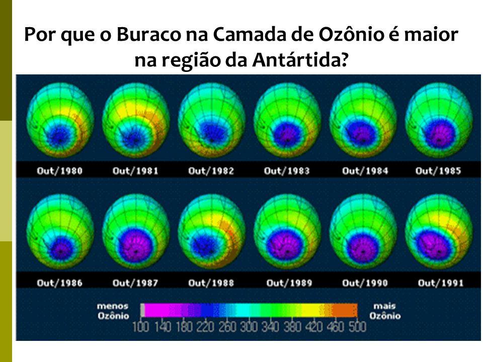 Por que o Buraco na Camada de Ozônio é maior na região da Antártida