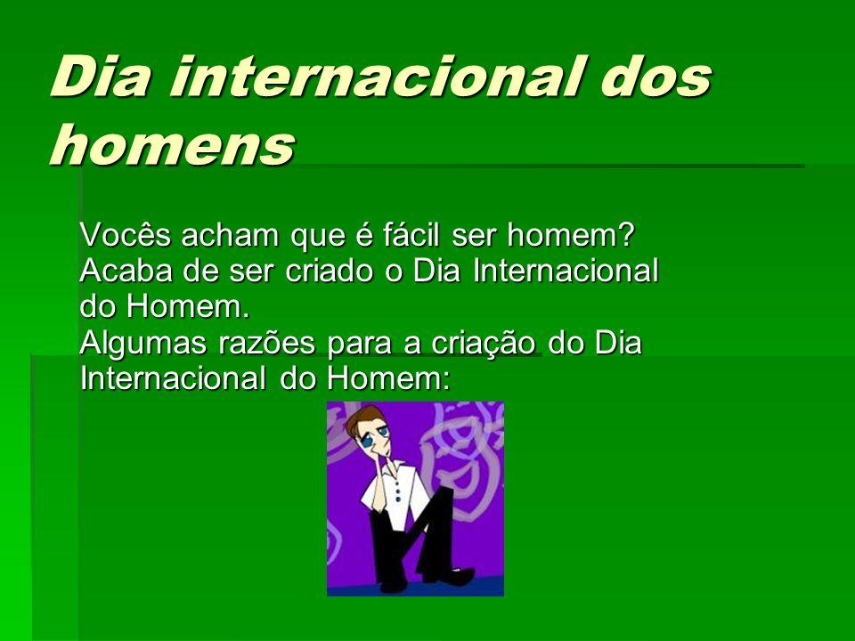 Dia internacional dos homens