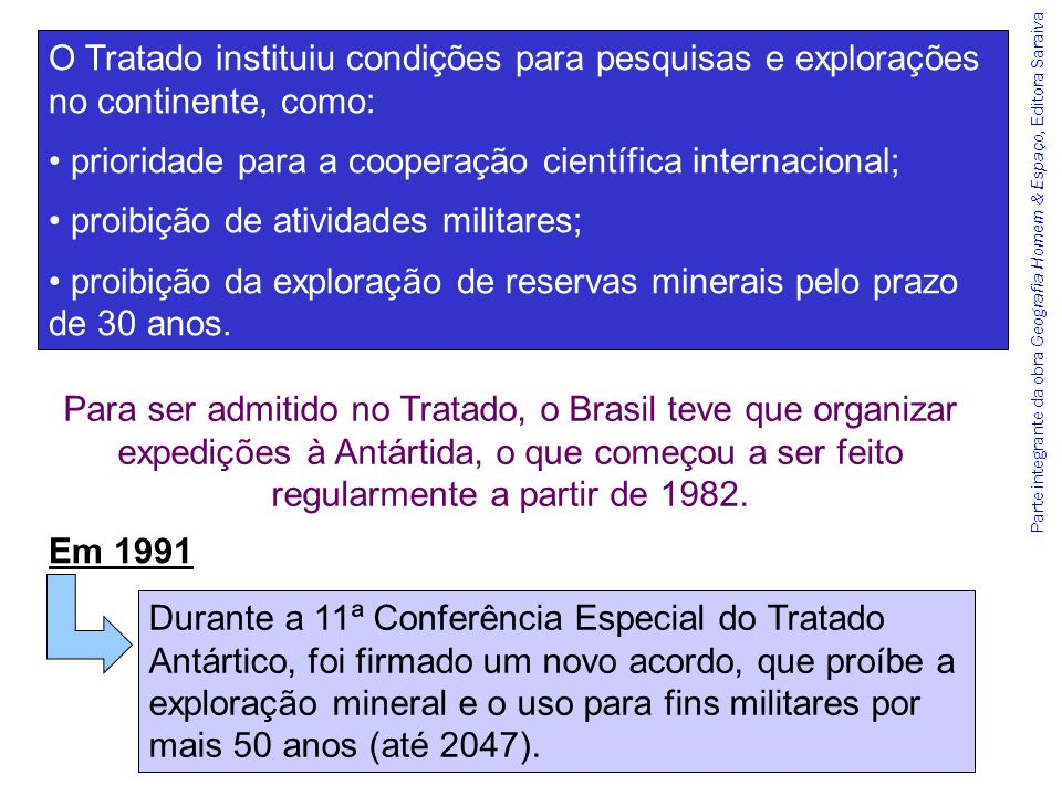 prioridade para a cooperação científica internacional;