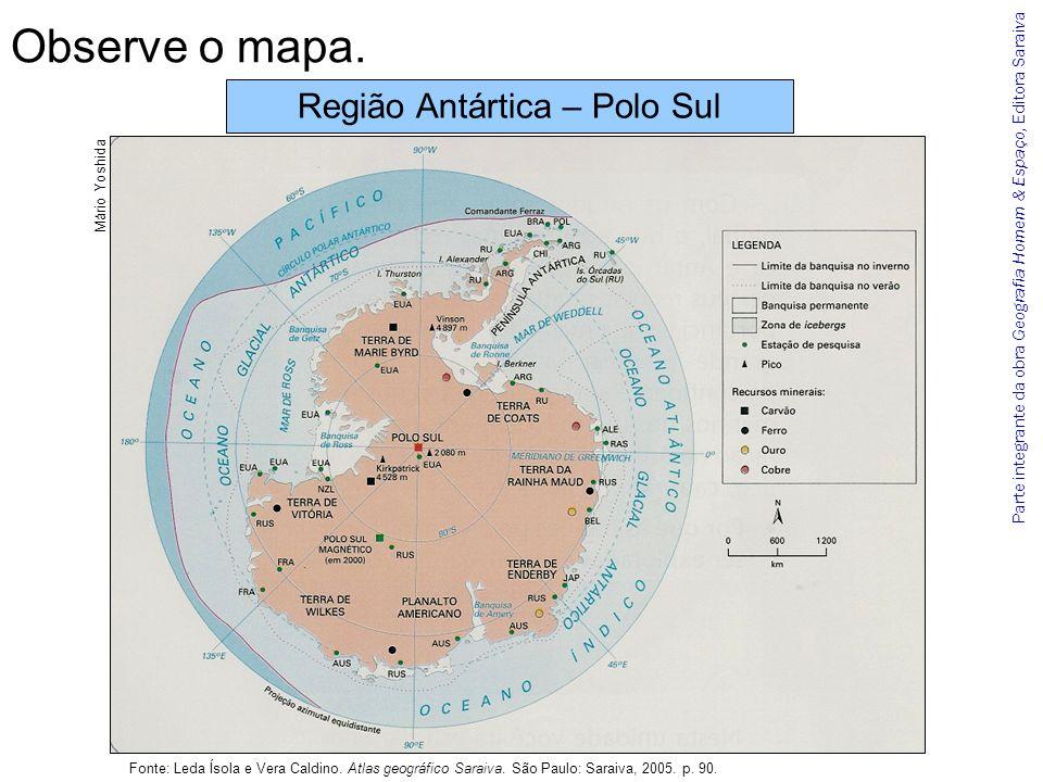Região Antártica – Polo Sul