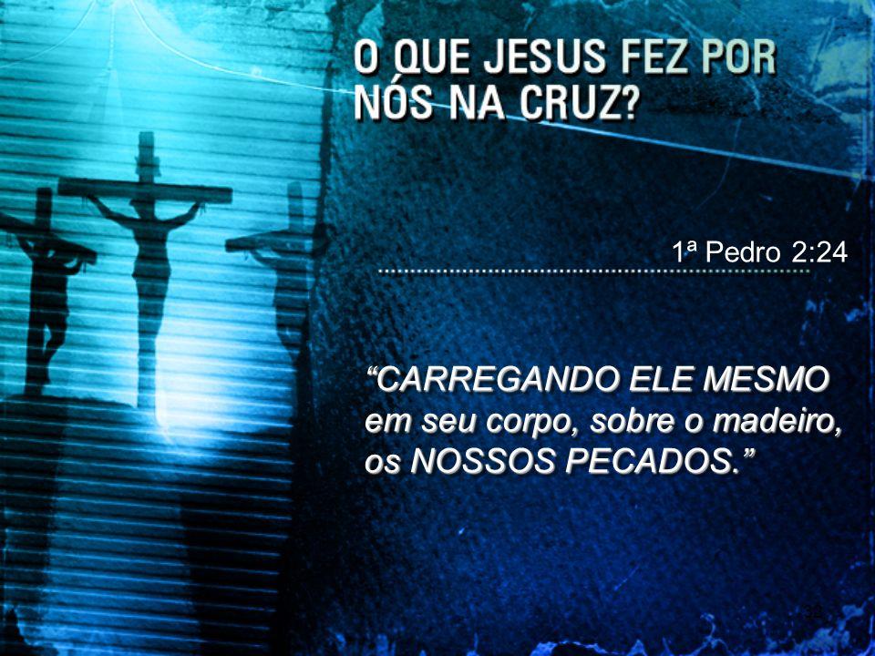 1ª Pedro 2:24 CARREGANDO ELE MESMO em seu corpo, sobre o madeiro, os NOSSOS PECADOS.