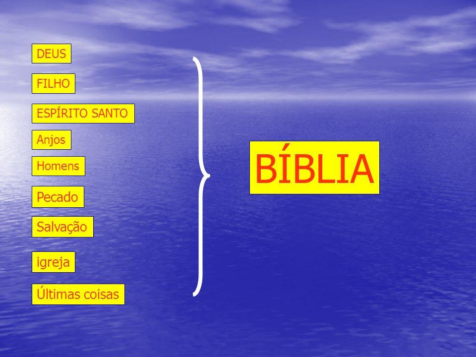 BÍBLIA Pecado Salvação igreja Últimas coisas DEUS FILHO ESPÍRITO SANTO