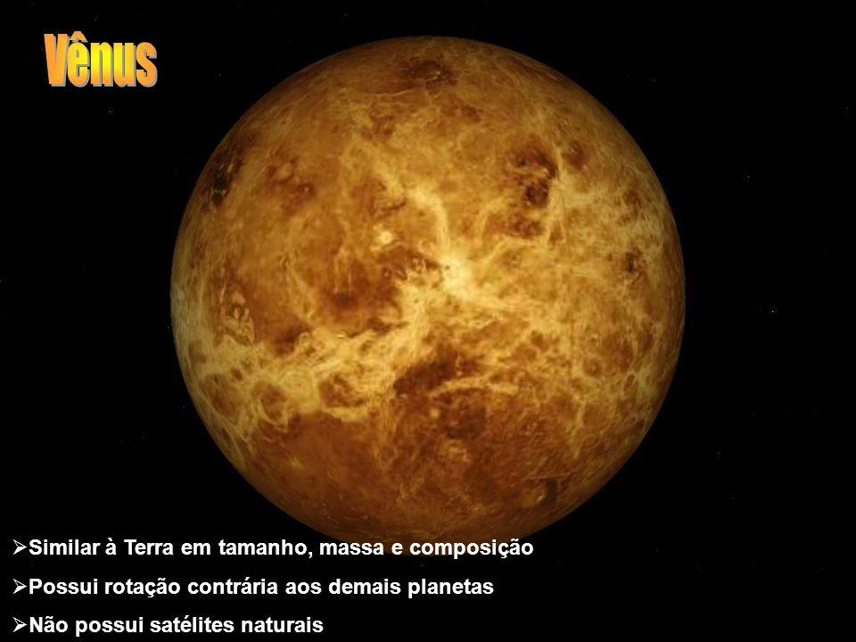 Vênus Similar à Terra em tamanho, massa e composição