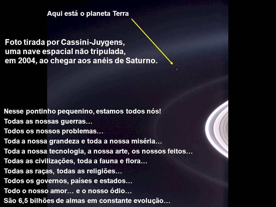 Foto tirada por Cassini-Juygens, uma nave espacial não tripulada,