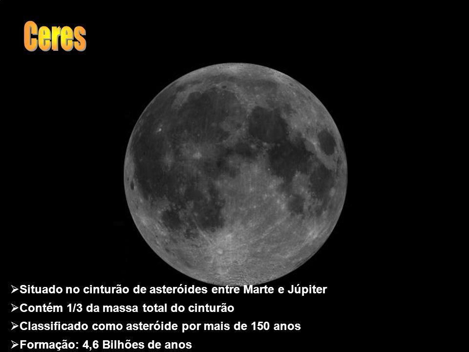 Ceres Situado no cinturão de asteróides entre Marte e Júpiter