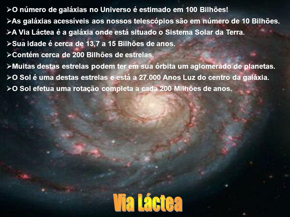 Via Láctea O número de galáxias no Universo é estimado em 100 Bilhões!