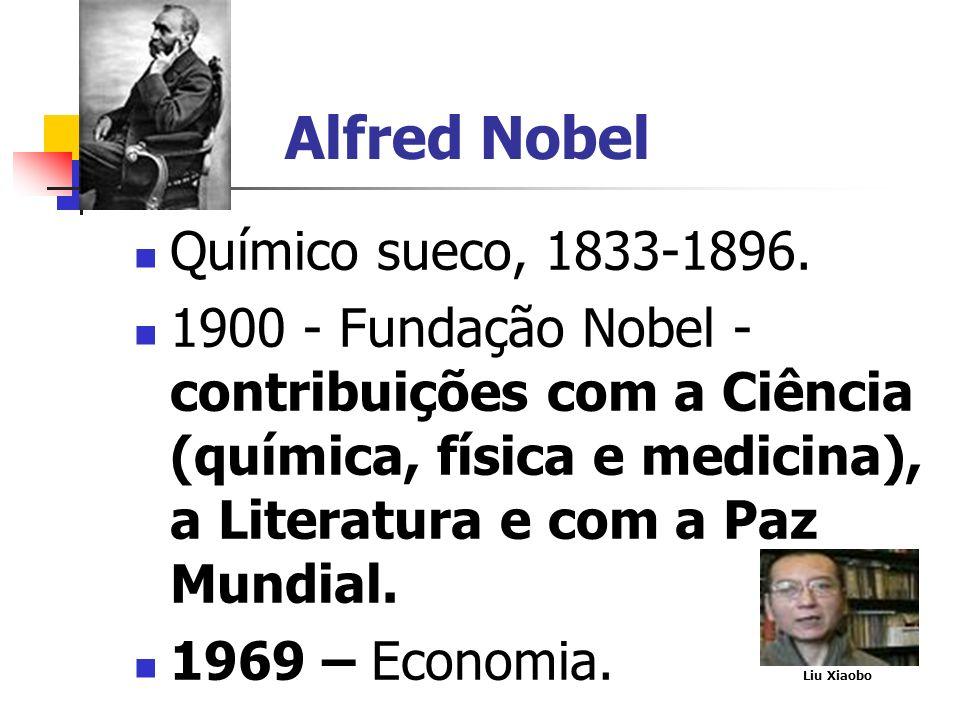 Alfred Nobel Químico sueco, 1833-1896.