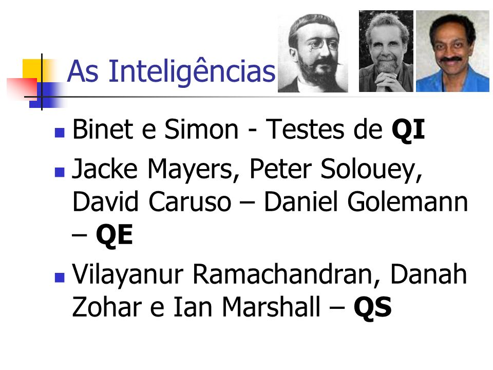 As Inteligências Binet e Simon - Testes de QI
