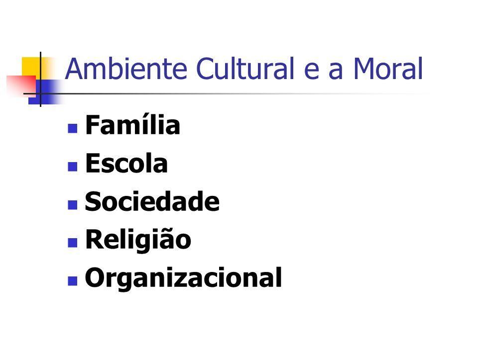 Ambiente Cultural e a Moral