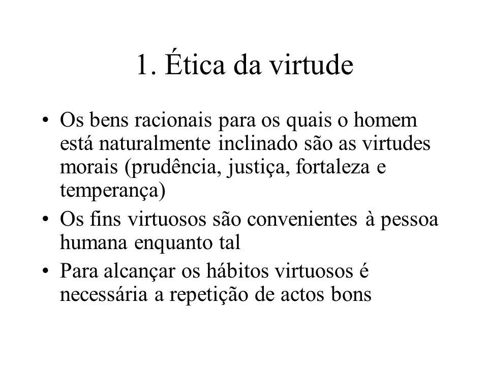 1. Ética da virtude