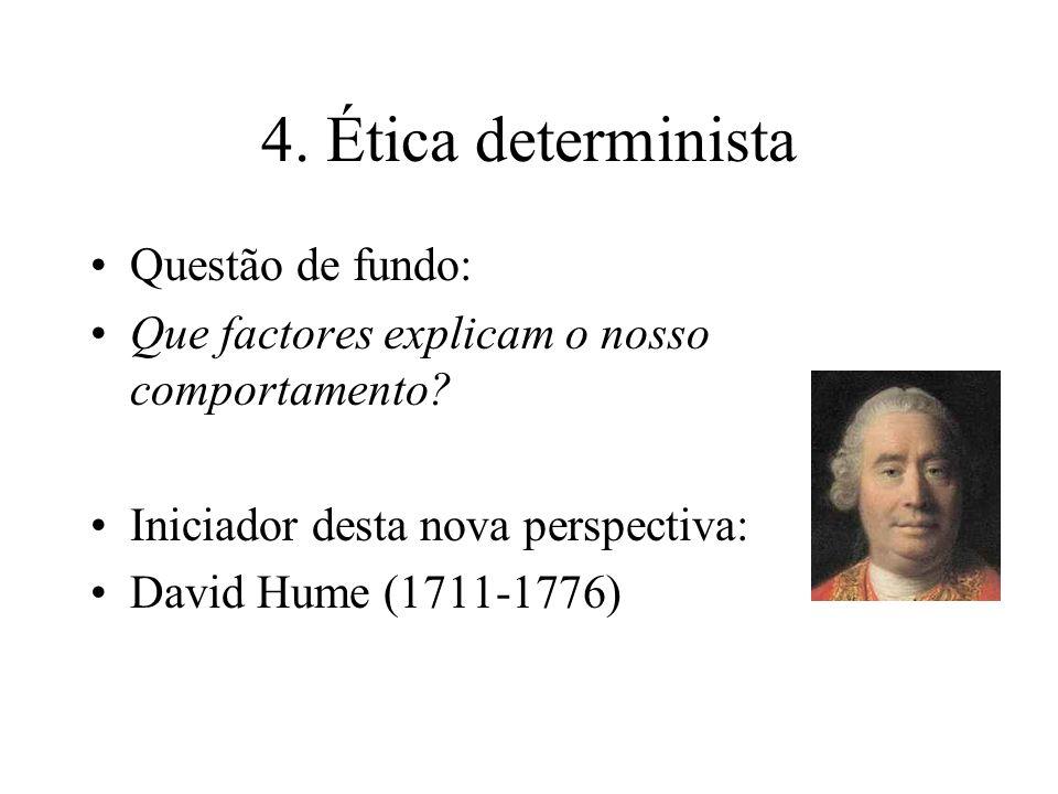 4. Ética determinista Questão de fundo: