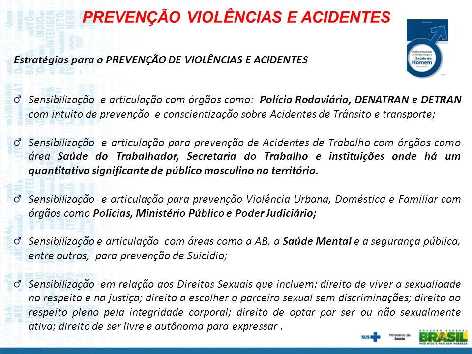 PREVENÇÃO VIOLÊNCIAS E ACIDENTES