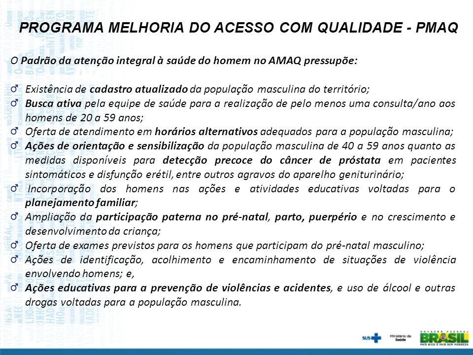PROGRAMA MELHORIA DO ACESSO COM QUALIDADE - PMAQ