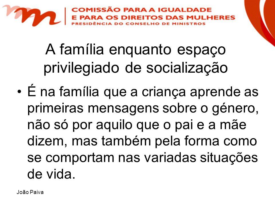 A família enquanto espaço privilegiado de socialização