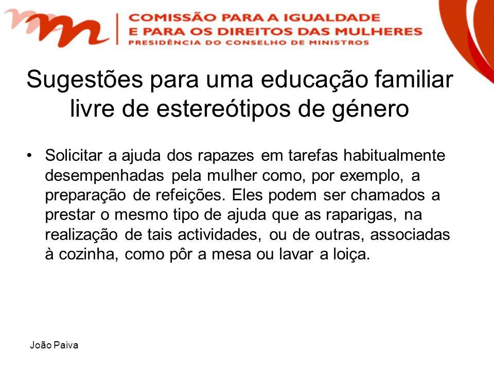 Sugestões para uma educação familiar livre de estereótipos de género