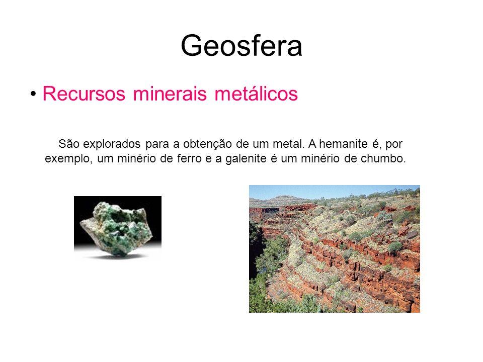 Geosfera Recursos minerais metálicos
