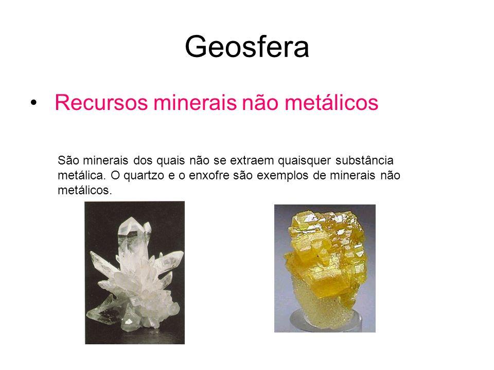 Geosfera Recursos minerais não metálicos