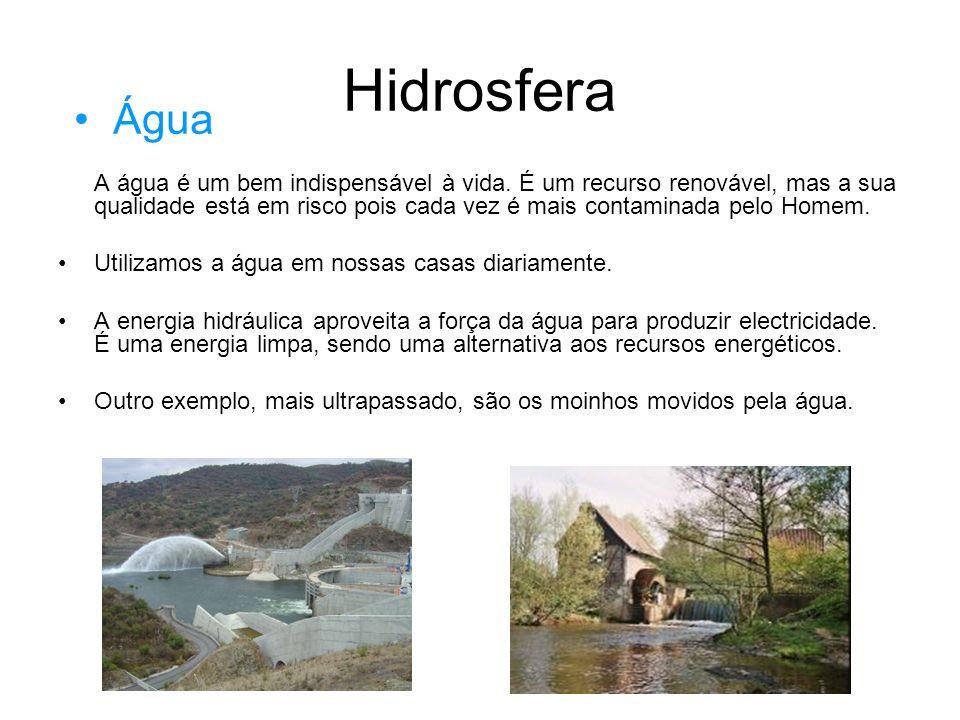 Hidrosfera Água.