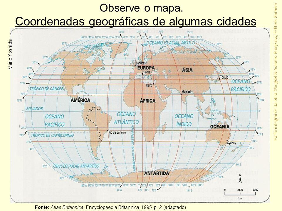 Coordenadas geográficas de algumas cidades