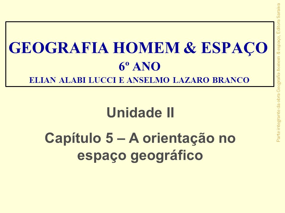 GEOGRAFIA HOMEM & ESPAÇO