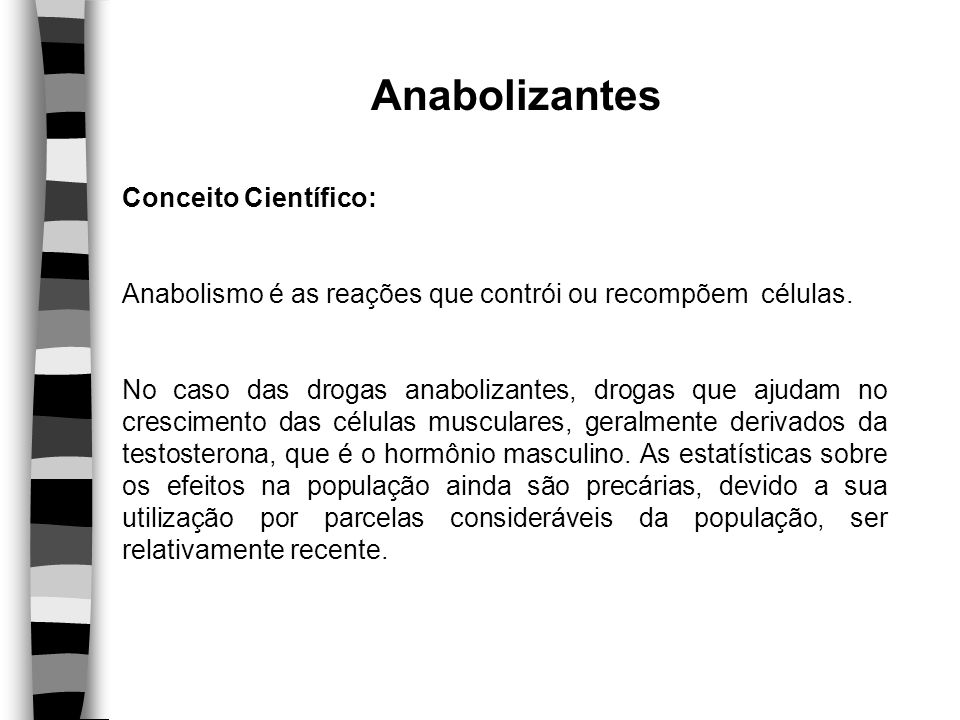 Anabolizantes Conceito Científico: